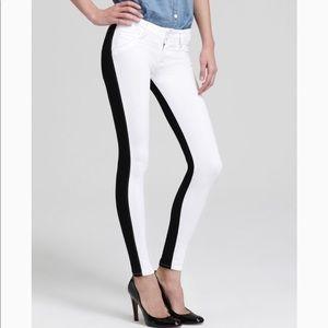 Hudson White Vice Versa Collin Skinny Jeans - 29
